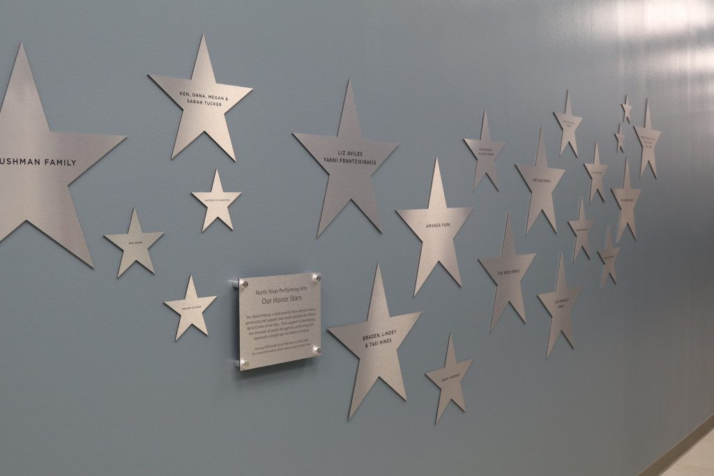 Wall of Honor Star wall commemorating donors to NTPA facilities
