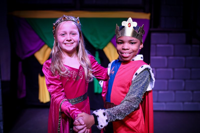 Girl and Boy in Prince and Princess Costume