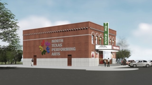 Mock Up of Nack Theatre - Side View