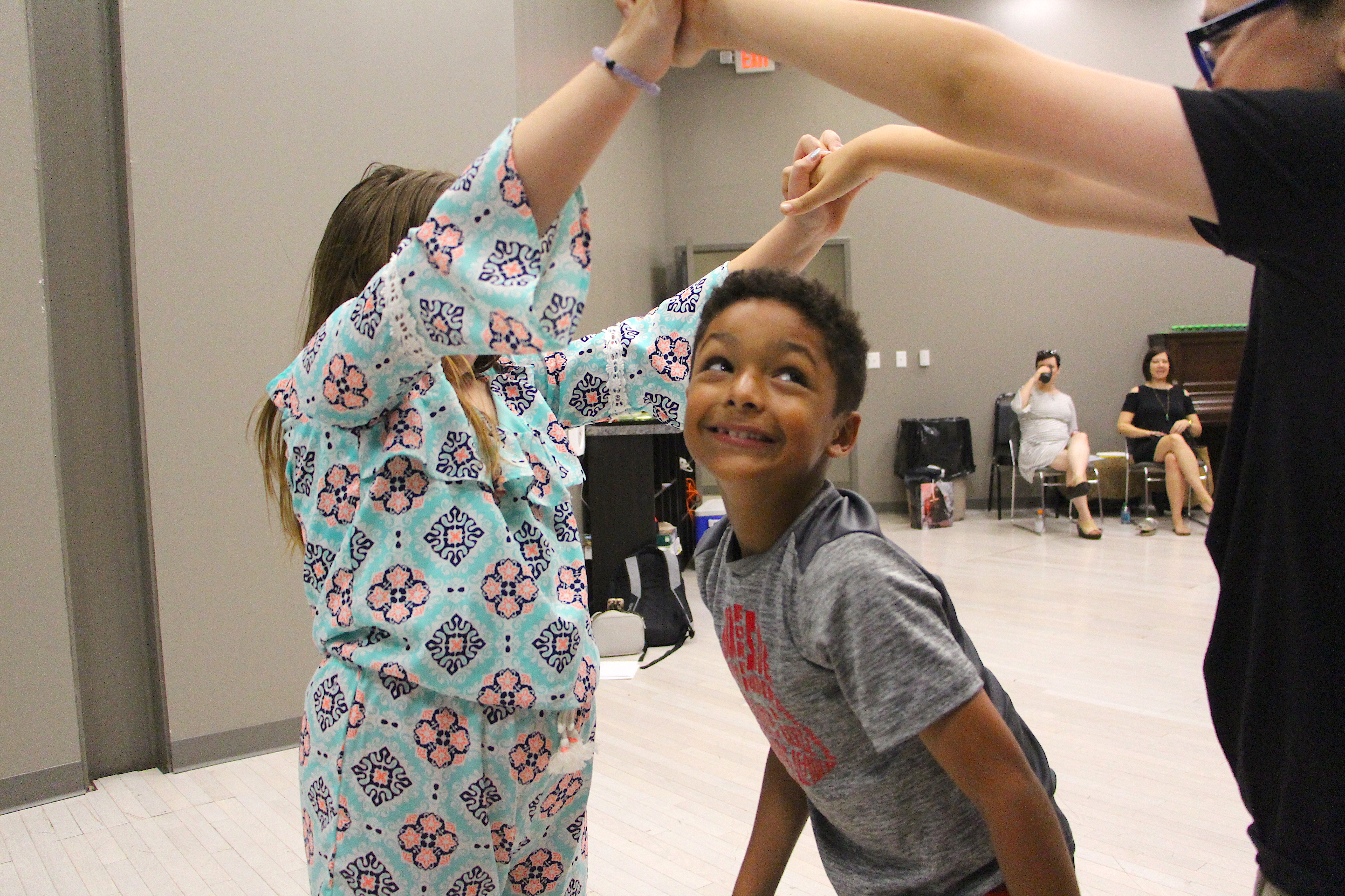 NTPA Birthday Party - boy and friends participate in theatre game