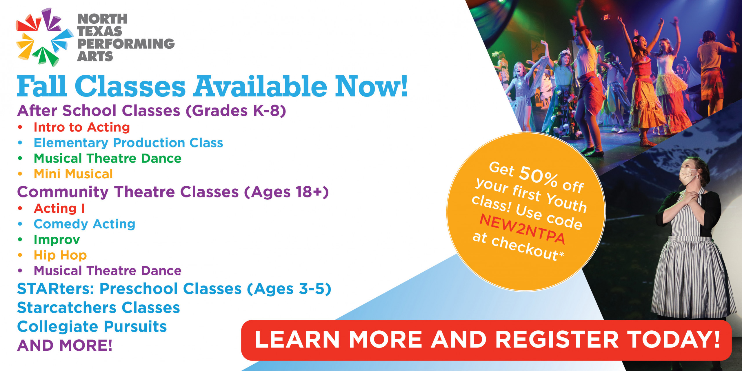Fall Classes available now
